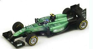 Caterham CT05 Renault Will Stevens Abou Dhabi Gp 2014 #46 1/43 Spark F1 Rare