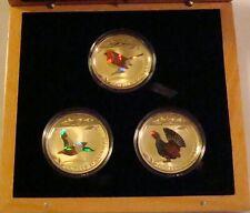 2012 Andorra 3x5 Dinar Sterling Silver 3 Coin Set -Prismatic Birds