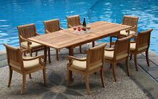 9 PC TEAK SET GARDEN OUTDOOR PATIO FURNITURE POOL - GIVA DECK DINING SET NEW G01
