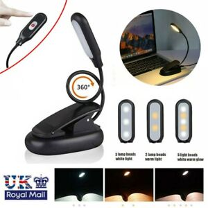 LED Desk Reading Lamp Dimmable Cordless Flexible  Table Light USB Rechargeable
