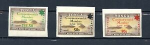 Tonga Mint #CO31-33  Official Air Mail 1970 Overprint Imperf  A514