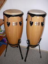Tycoon Percussion Conga-Set mit Ständer, unbespielt