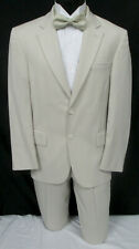 Men's Tan Suit with Pants Destination Spring Summer Wedding Beach Cruise 42R