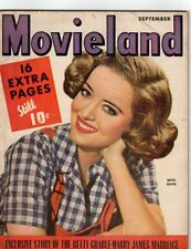 Bette Davis Roy Rogers Lou Costello Walter Pidgeon Movieland Sept 1943