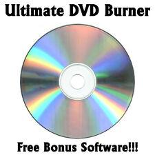 ULTIMATE CD & DVD VIDEO / HD BLU-RAY BURNING SOFTWARE! FREE BONUS SOFTWARE