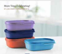 Tupperware My Lunch Inner Containers Set of 4 in Colors-New