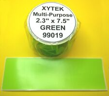 3 Rolls Multi-Purpose GREEN LABELS fit DYMO 99019 - USA Made & BPA Free