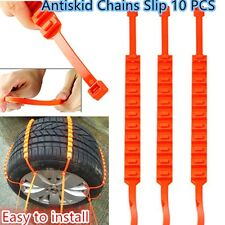 Car Snow Tire AntiskidChains tendon rubber Wheel Antiskid Chain 10 PCS Universal