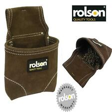 ROLSON LEATHER SUEDE NAIL SCREW FIXING POUCH FOR TOOL BELTS DOUBLE STITCHED  IA1