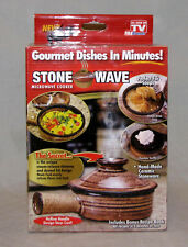 Stone Wave Microwave Cooker Crock As Seen On TV Handmade Ceramic Stoneware NEW
