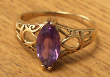 9ct Gold Ring With Amethyst Stone