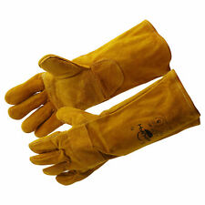 Welding Gloves Forgefireplacestoveoven Men Women Safety Long Cowhide Heat
