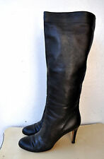 BALLY Ladies Black Leather Delona Boots Knee-High Sz 39 Italy Authentic Gorgeous
