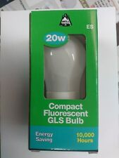 6 x BELL 20W = 100W Compact Fluorescent GLS Bulb ES/E27 Energy Saving 00755