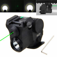 Tactical 532nm Green Dot Laser Sight Compact Q5 LED Flashlight F/20mm Pistol
