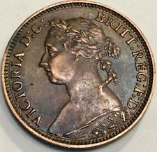 GREAT BRITAIN - Queen Victoria - Farthing - 1881H - KM-753 - Extra Fine - NICE!