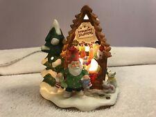 Fitz & Floyd Christmas village Stocking Stuffer's Workshop lighted Ch3785