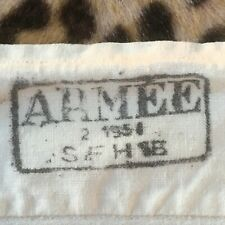French Army 1950s Cotton Boxer Shorts Underwear~Cinch Back~Dated 1951~Unworn~M/L