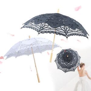 Regenschirm Spitzenschirm Baumwollspitze Hochzeit Braut für Brautpartydekoration