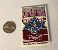 1992 Super Bowl XXVI Metrodome Minneapolis Coca-Cola Pin
