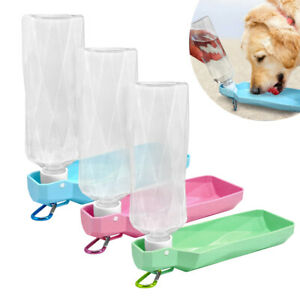 Dog Water Bottle 250ML / 500ML Foldable Dog Water Dispenser for Walking Hiking