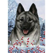 Winter House Flag - Norwegian Elkhound 15403