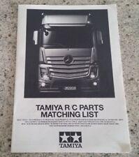 Tamiya R/C Parts Matching List 2013