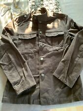 French Connection Brown Grey Mens Military Jacket. Small