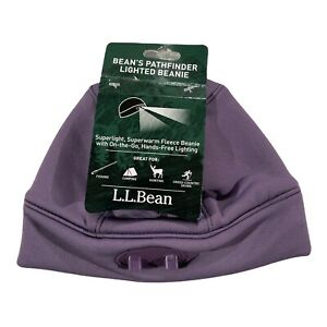 L.L. Bean Adult Bean's Pathfinder Lighted Beanie, Purple, One Size