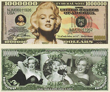 RARE Marilyn Monroe 000 000 Novelty Note Movies Buy 5 Get One