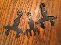 3 Black Vintage Ken PAK Hangers Barbie