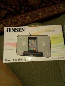 JENSEN SMPS-175 Stereo Speaker System for Tablets, iPads, Smartphones