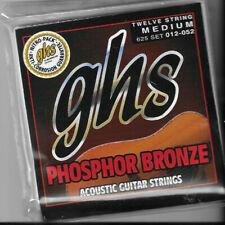 Ghs Phosphor Bronze Acoustic Guitar Strings 625 Twelve String Medium 012-052
