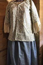 18th Century Colonial Rev War Georgian Williamsburg Shortgown Chemise Petticoat