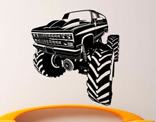 Monster Truck Wall Decal Vinyl Sticker Big Monster Car Interior Art Decor (1bmc)