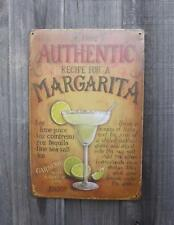 'MARGARITA RECIPE' METAL TIN SIGN 200 x 300 GREAT FOR THE BAR / SHED