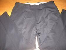 REGALO PLEATED CUFFED DRESS PANTS Black Mens 40 x 30 L