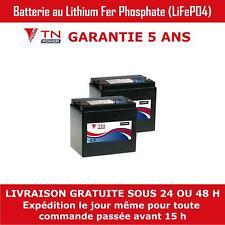 2x 12V 33Ah Lithium Batterie à Décharge Profonde Pour Mobilité et Golf LiFePO4