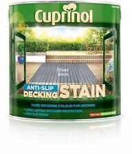 Garden Decking Stain Floor Anti Slip Paint Wood Protection Silver Birch 2.5L