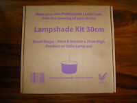 30cm Drum Lampshade Making Kit to suit a Table Lamp or Pendant Ceiling light