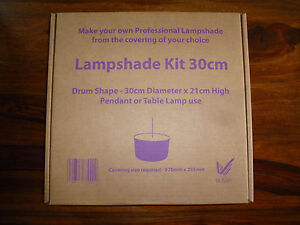 Lampshade Making Kit 30cm drum Table Lamp Pendant Ceiling light without diffuser