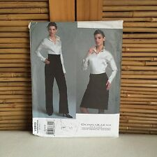 VOGUE 'Donna Karan' #2813 Shirt SKIRT Pants SEWING Pattern SIZES 12-14-16~ UNCUT