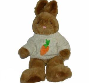 "Harrods of Knightsbridge Brown Bunny Rabbit 16"" Plush w/ Sweater"