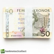 More details for sweden: 50 x 50 swedish krona banknotes.