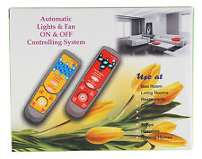 Remote control system for 5 Lights and 1 Fan with speed regulation in 10 steps