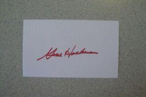 GENE HACKMAN SIGNED 3x5 INDEX CARD AUTOGRAPH