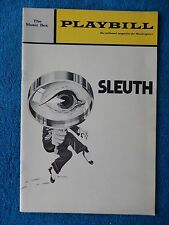 Sleuth - Music Box Theatre Playbill - December 1970 - Anthony Quayle - Baxter