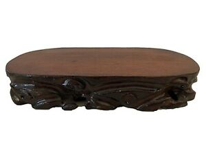 "Asian Solid Wood Stand 10.75"" by 5.75 by 2"""