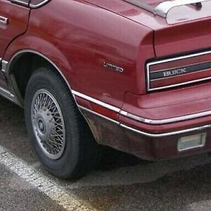 Buick Skylark, Somerset: 1986 - 1991, Left Rear Marker Light With Red Bezel
