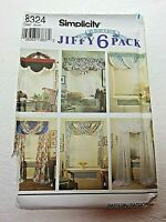 UNCUT 8324 SIMPLICITY Pattern WINDOW TREATMENTS Abbie's Jiffy 6 Pack